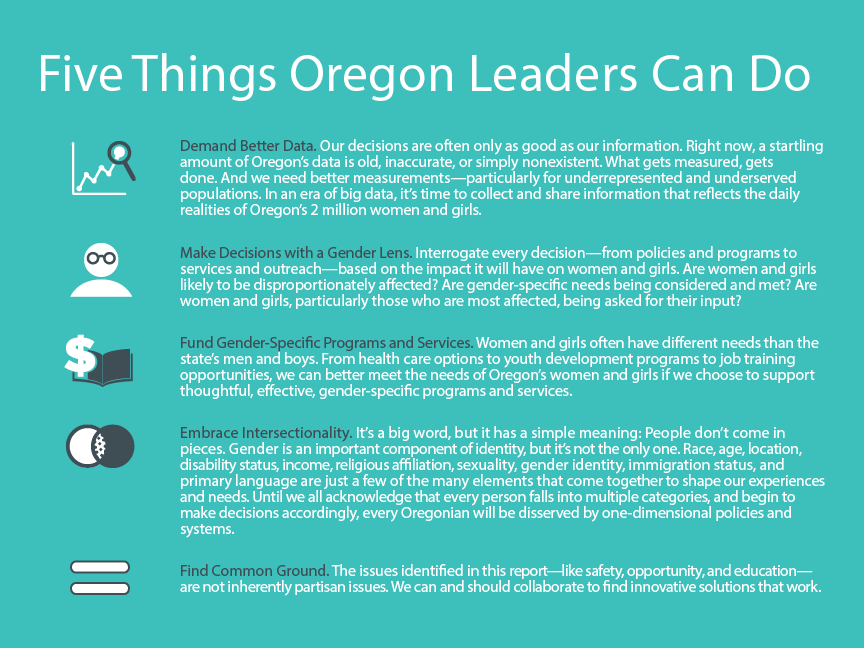 5 things Oregon leaders can do