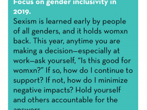 #CountMeIn Call to Action Week 1: Focus on gender inclusivity in 2019.