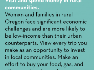 #CountMeIn Call to Action Week 22: Visit and spend money in rural communities.