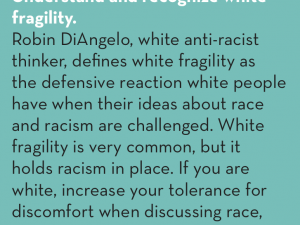#CountMeIn Call to Action Week 24: Understand and recognize white fragility.