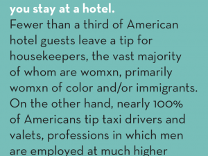 #CountMeIn Call to Action Week 25: Always tip housekeepers when you stay at a hotel.